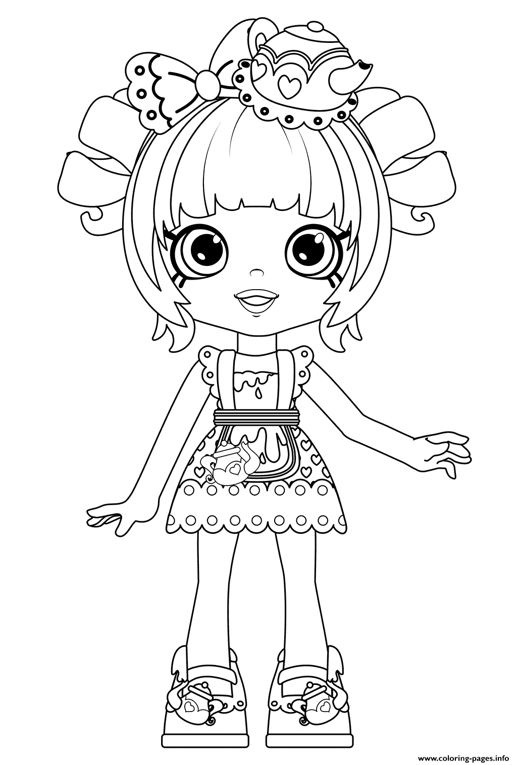 Funny Tippi Teapot Coloring Pages Printable