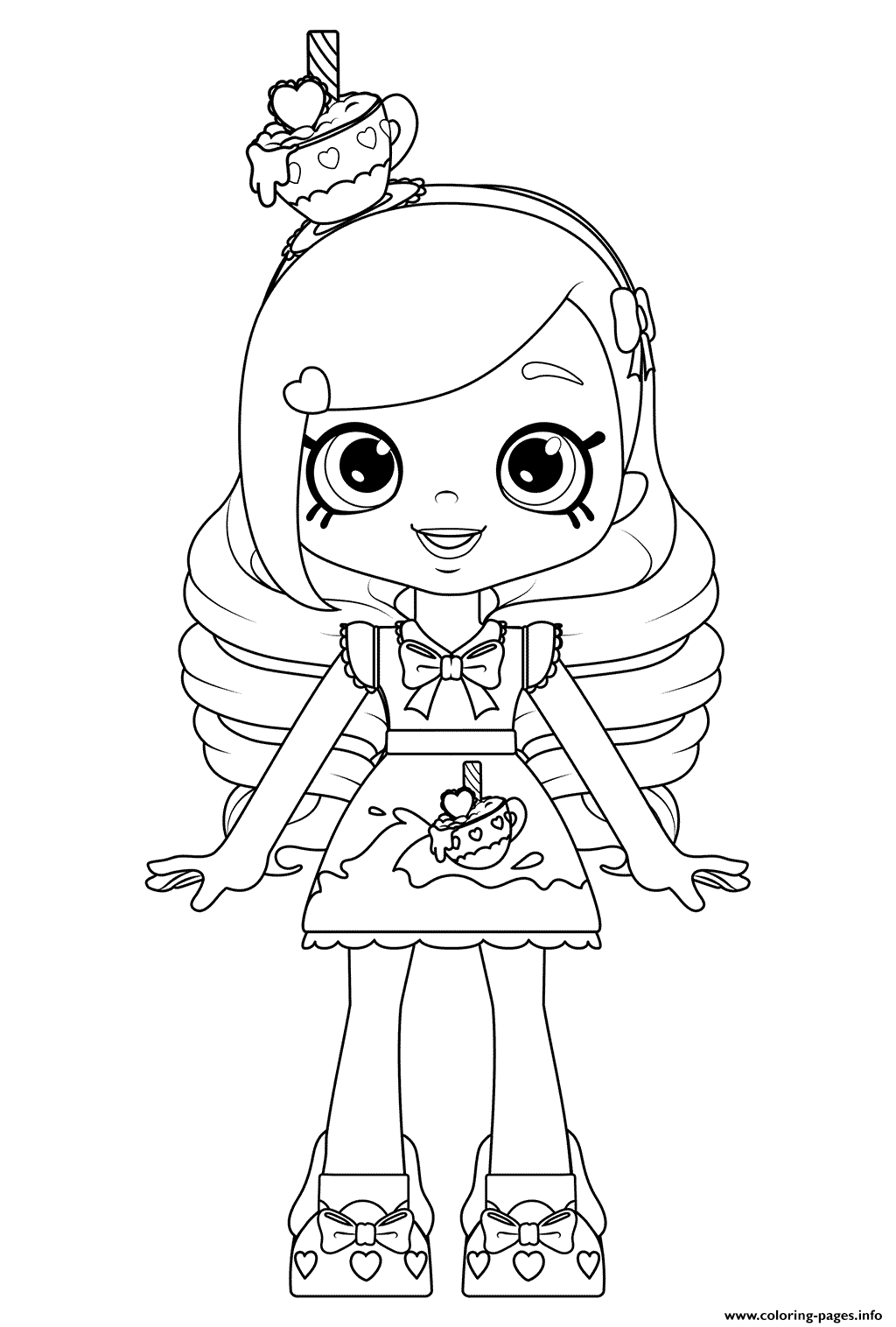 Eenhoorn Kleurplaat My Little Pony Kirstea Shoppies Doll Coloring Pages Printable