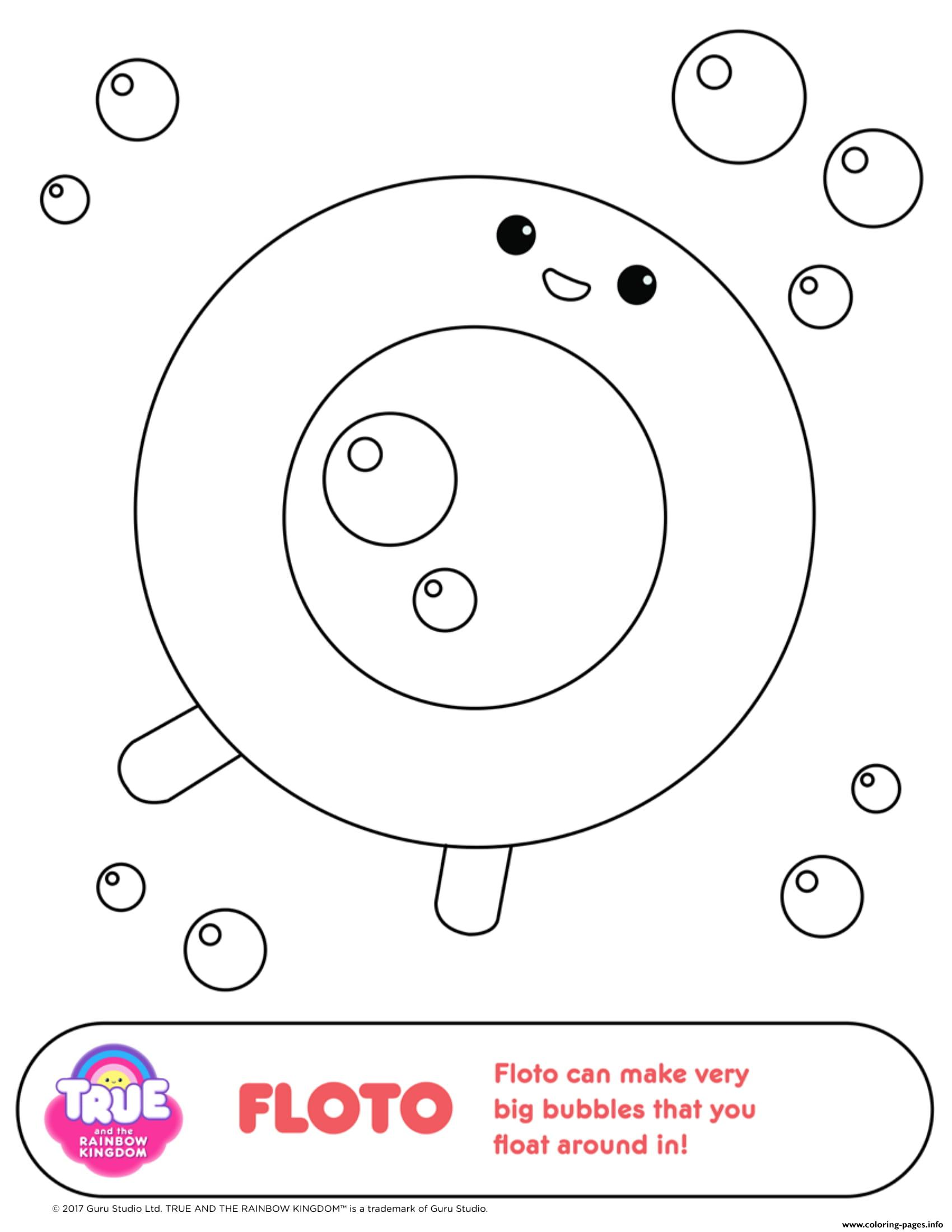Floto 1 true and the rainbow kingdom coloring pages printable for True and the rainbow kingdom coloring pages