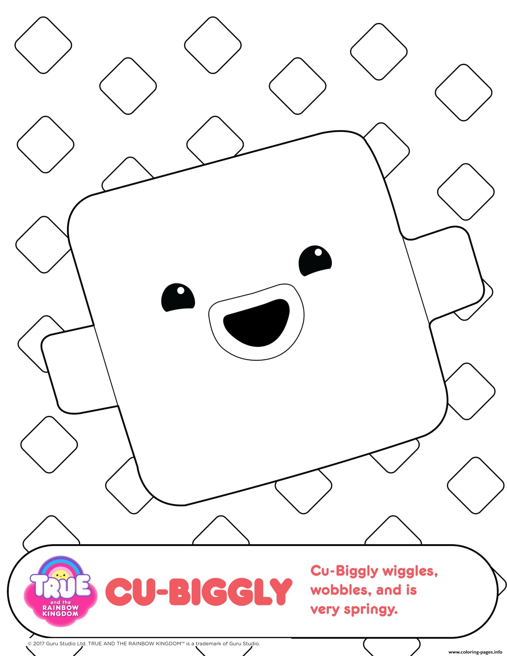 Cu biggly 1 true and the rainbow kingdom coloring pages printable