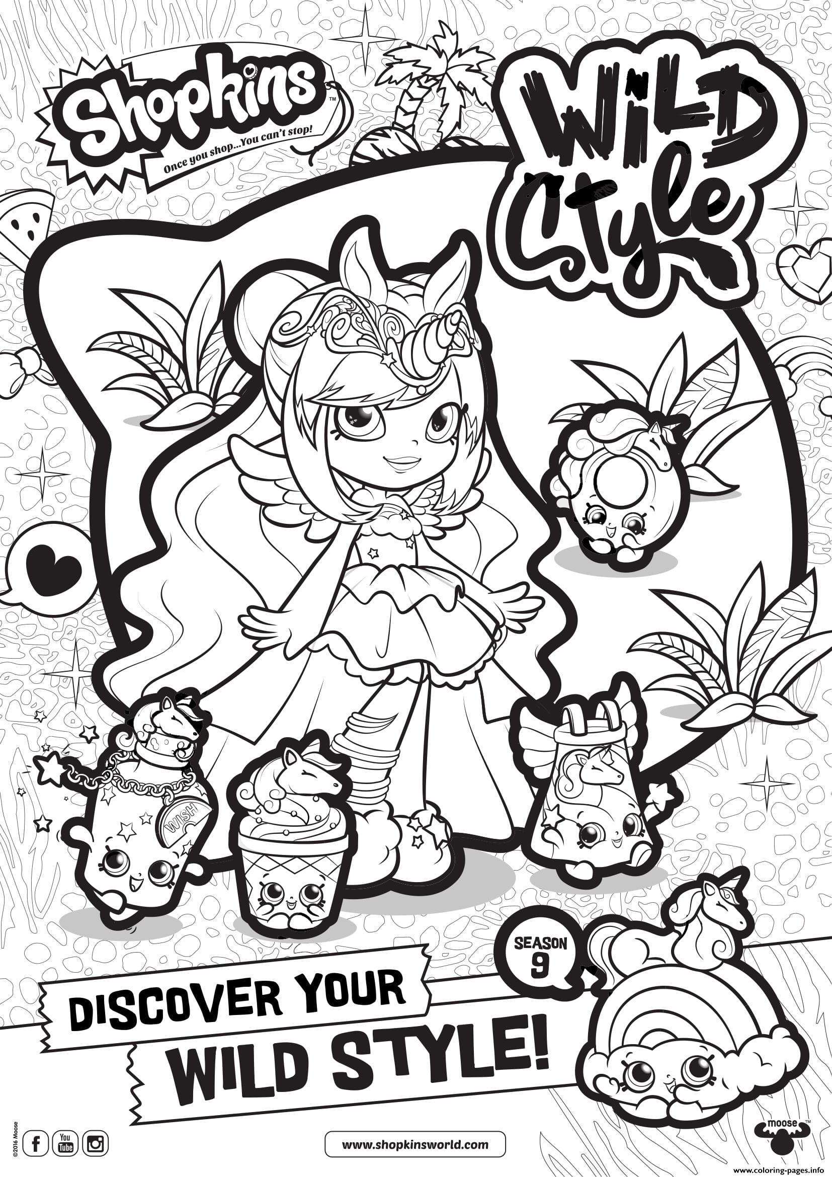 Shopkins Season 9 Wild Style 5 coloring pages