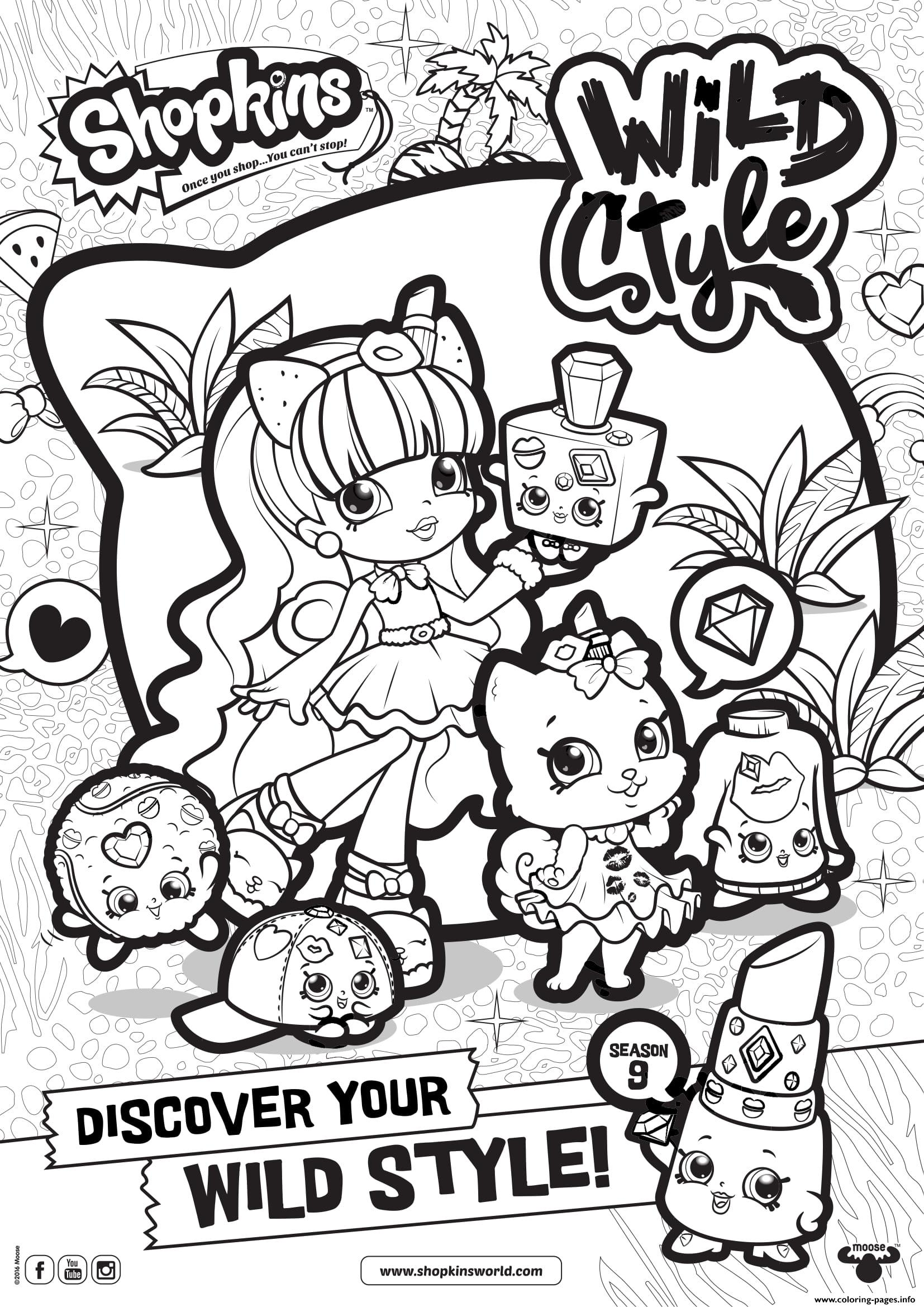 Shopkins Season 9 Wild Style 7 Coloring Pages