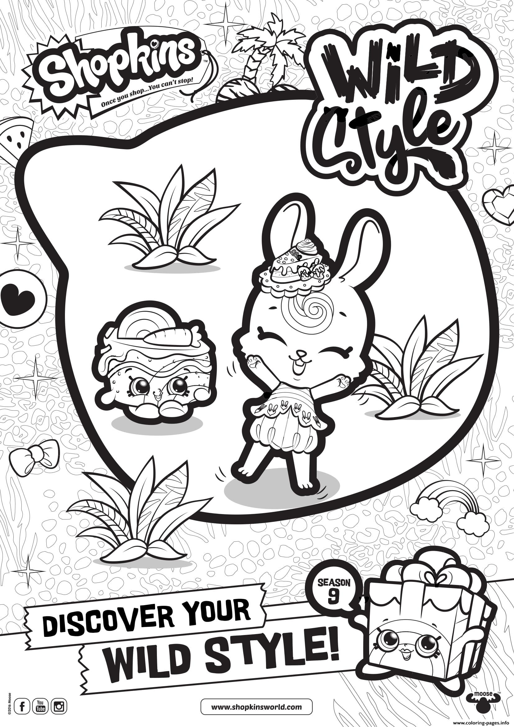 Shopkins Season 9 Wild Style 4 coloring pages