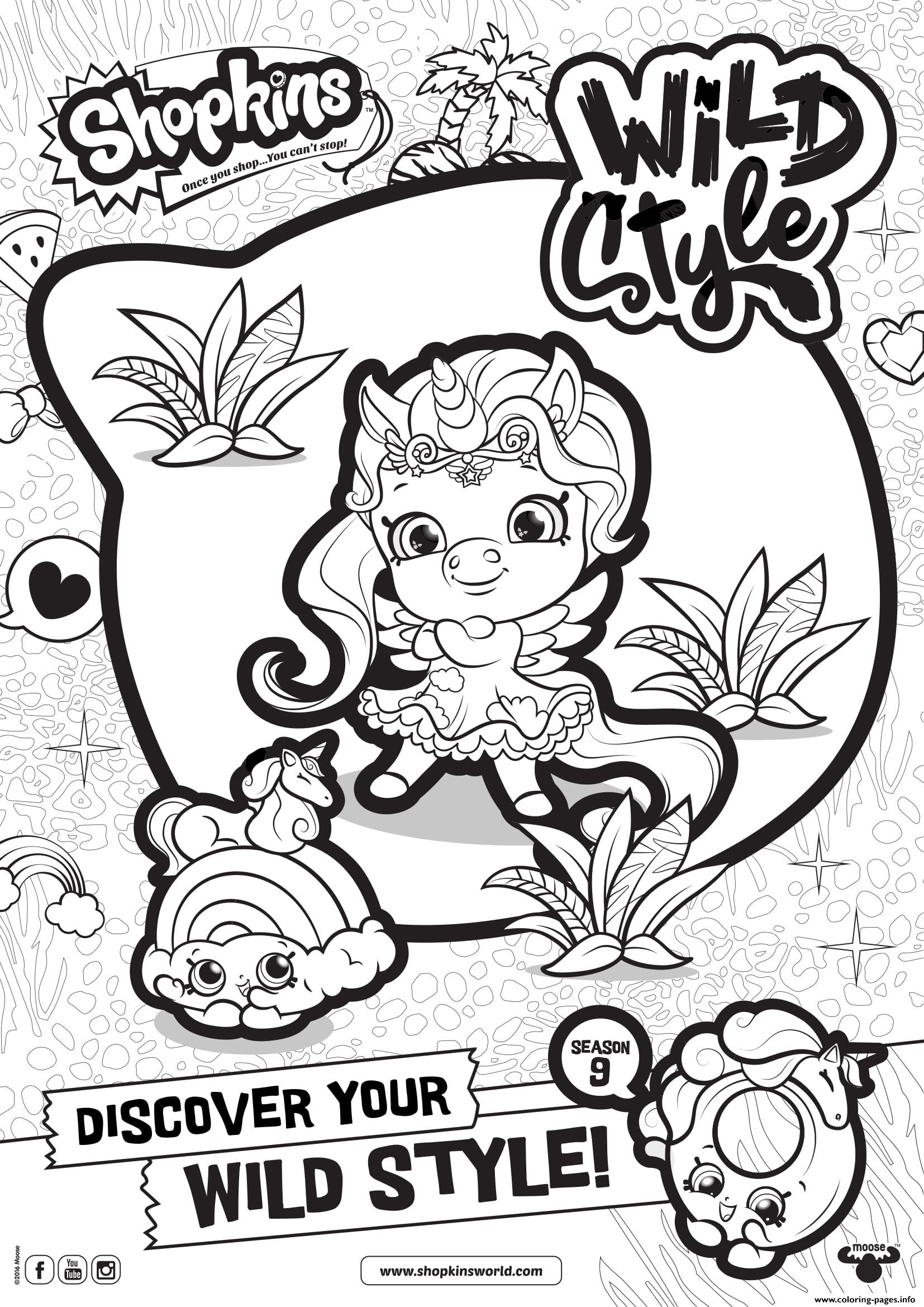 Shopkins Season 9 Wild Style 1 coloring pages