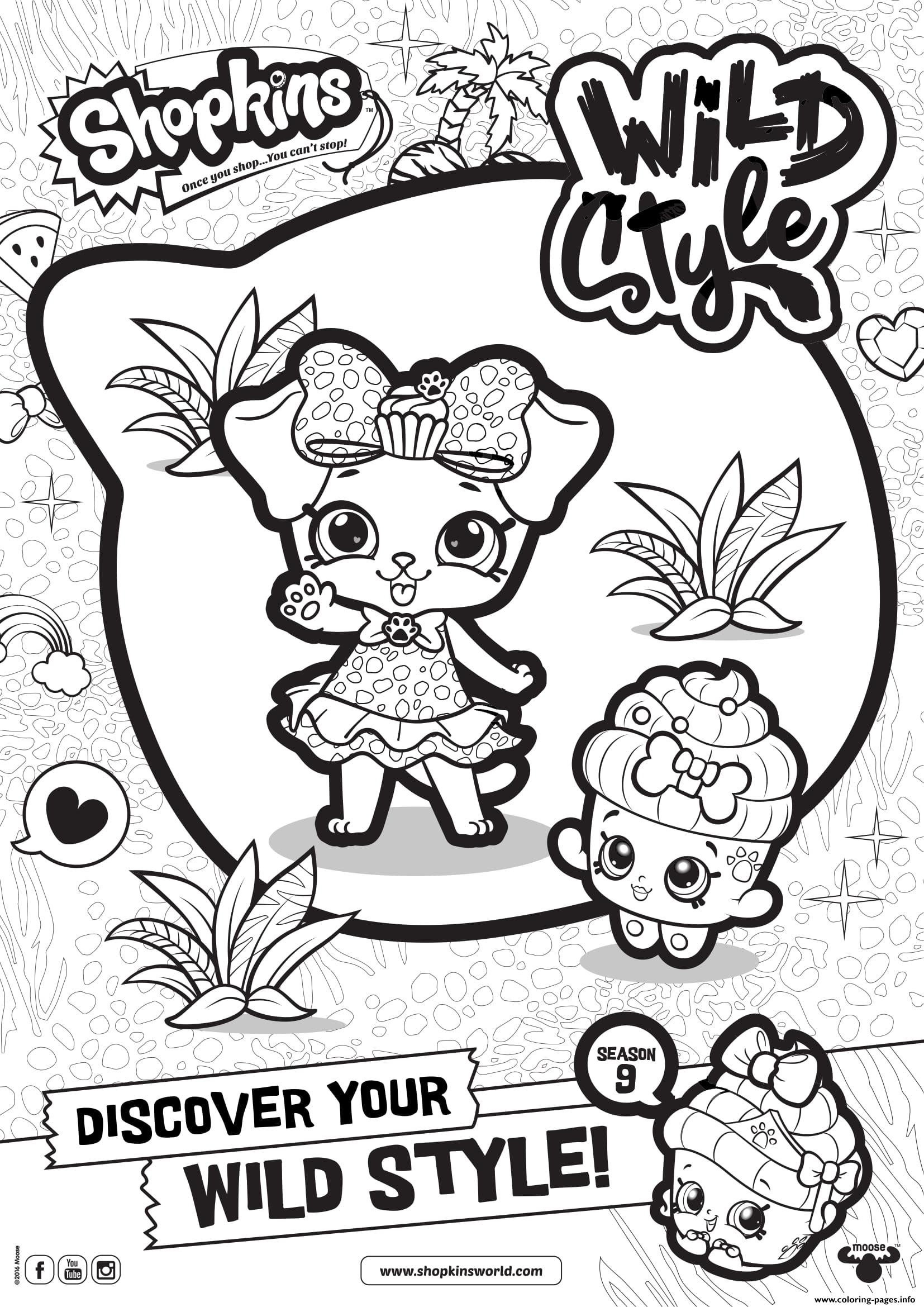 Shopkins Season 9 Wild Style 2 Coloring Pages Printable
