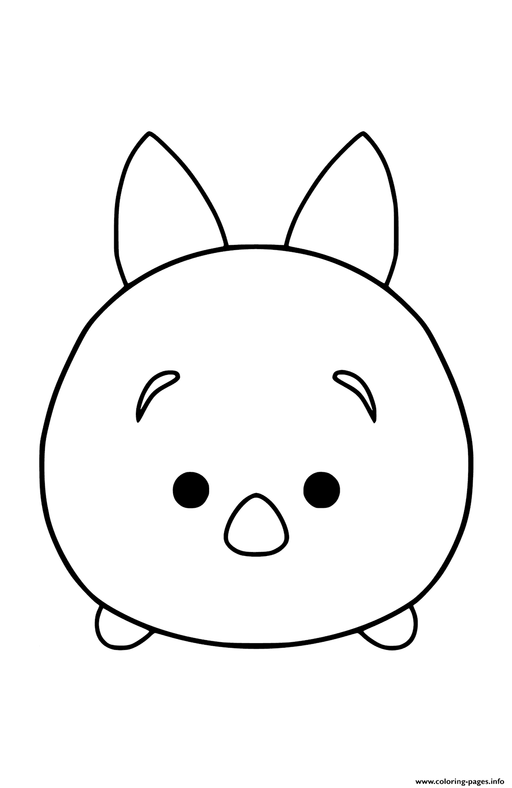 Disney Tsum Tsum Plush Toy Piglet To Color Coloring Pages Printable