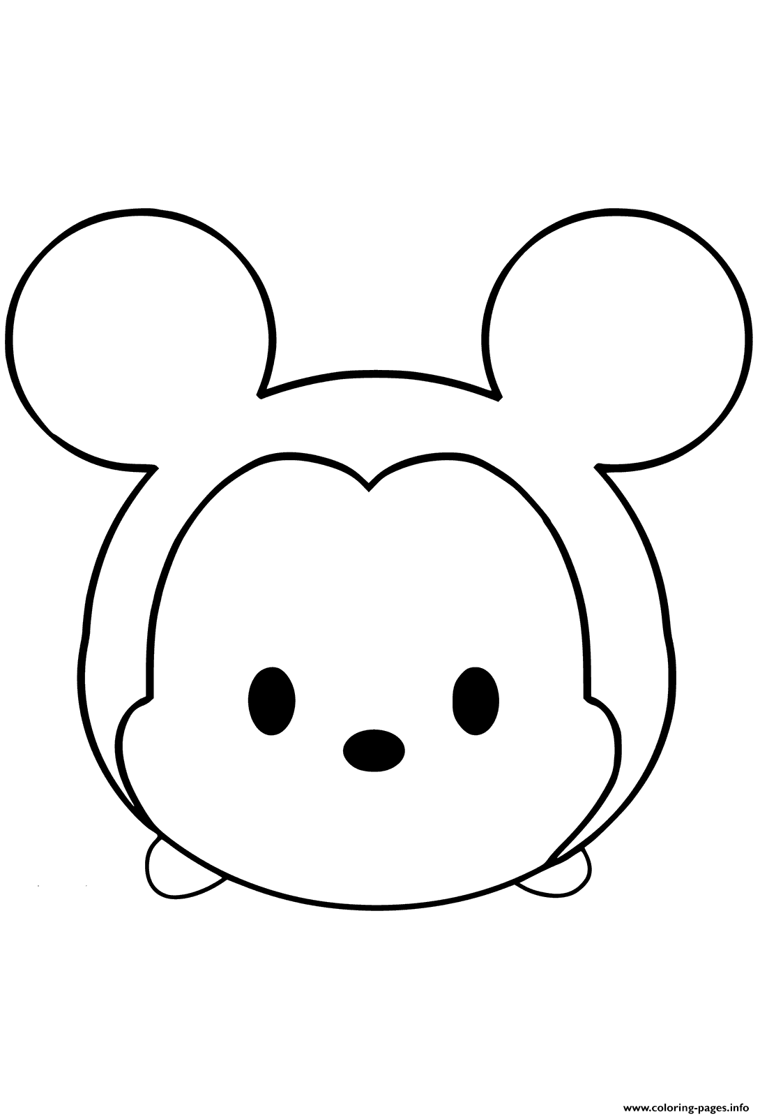 Mickey Mouse Emoji Face Tsum Tsum Coloring Pages Printable