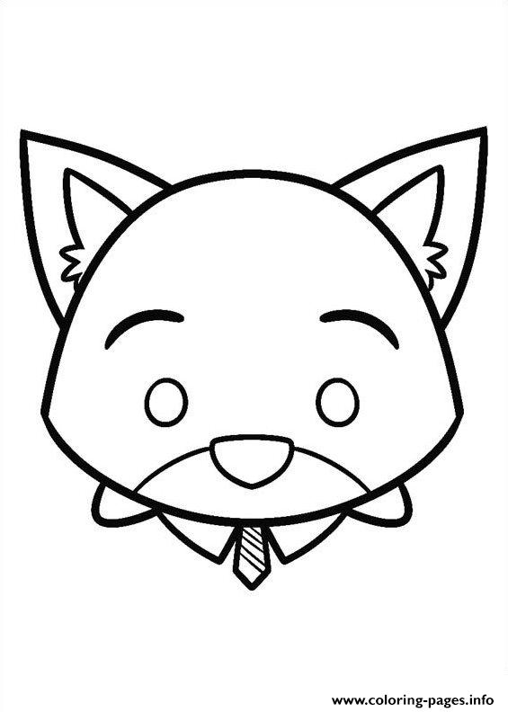 Nick Wild Disney Tsum Tsum coloring pages
