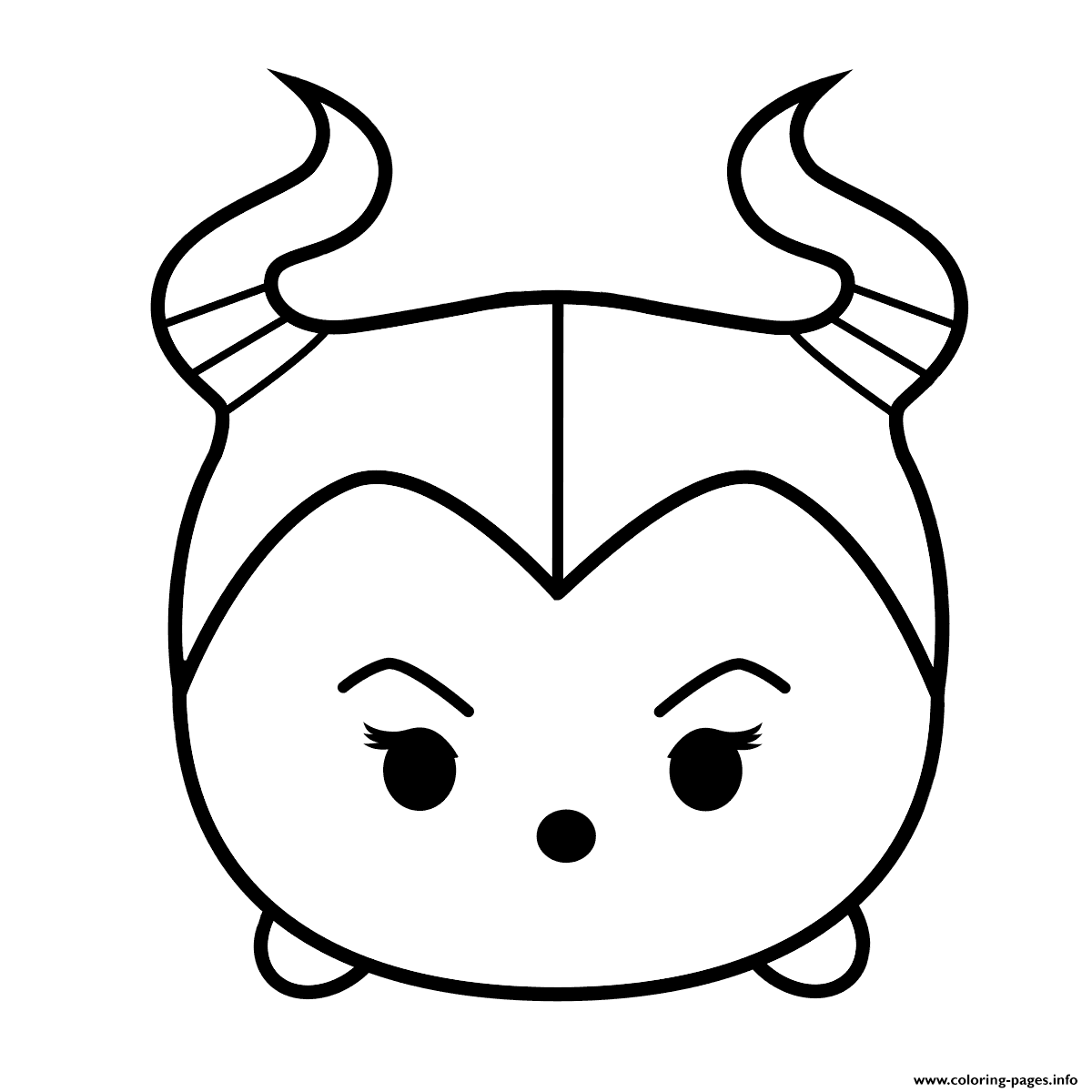 Cute Maleficent Tsum Coloring Pages