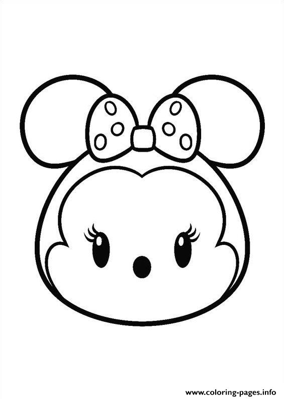 Minnie Mouse Tsum Tsum coloring pages