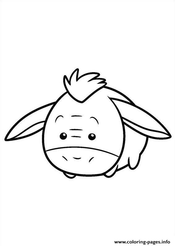 Tsum Tsum Eeyore Coloring Pages Printable