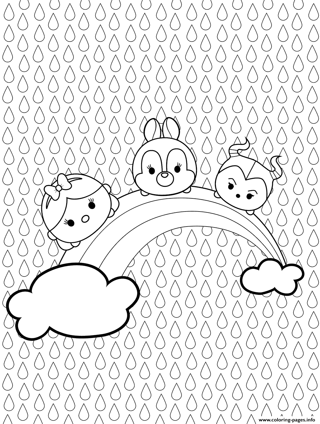 Tsum Tsum Full Page Coloring coloring pages