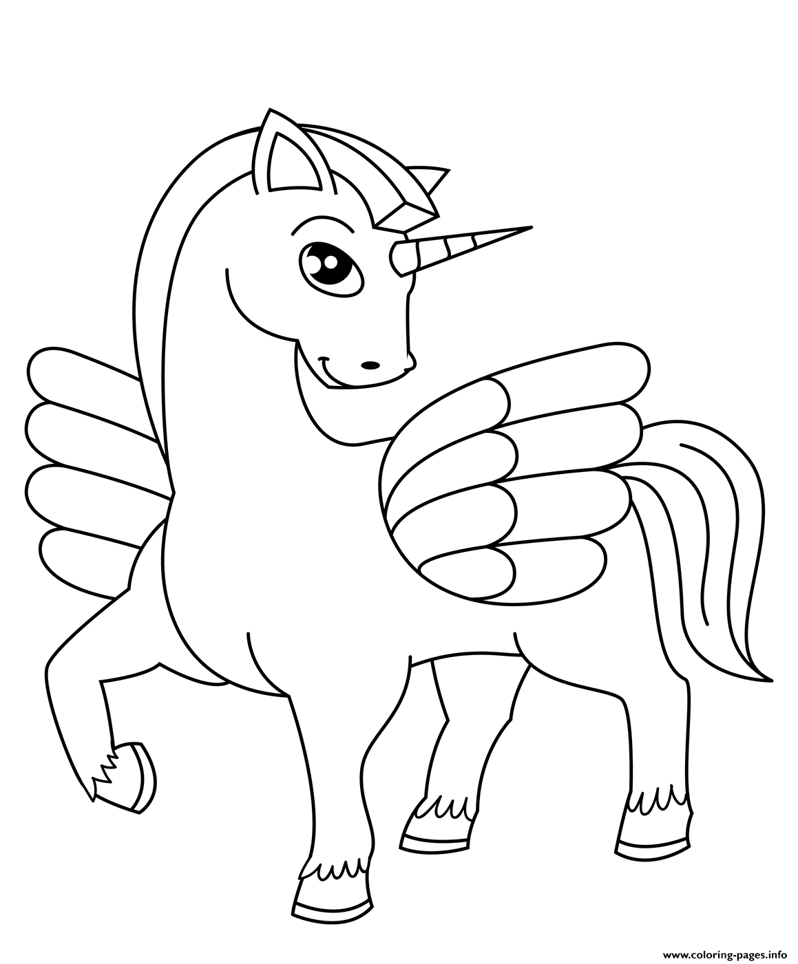 beautiful unicorn coloring pages - photo#34