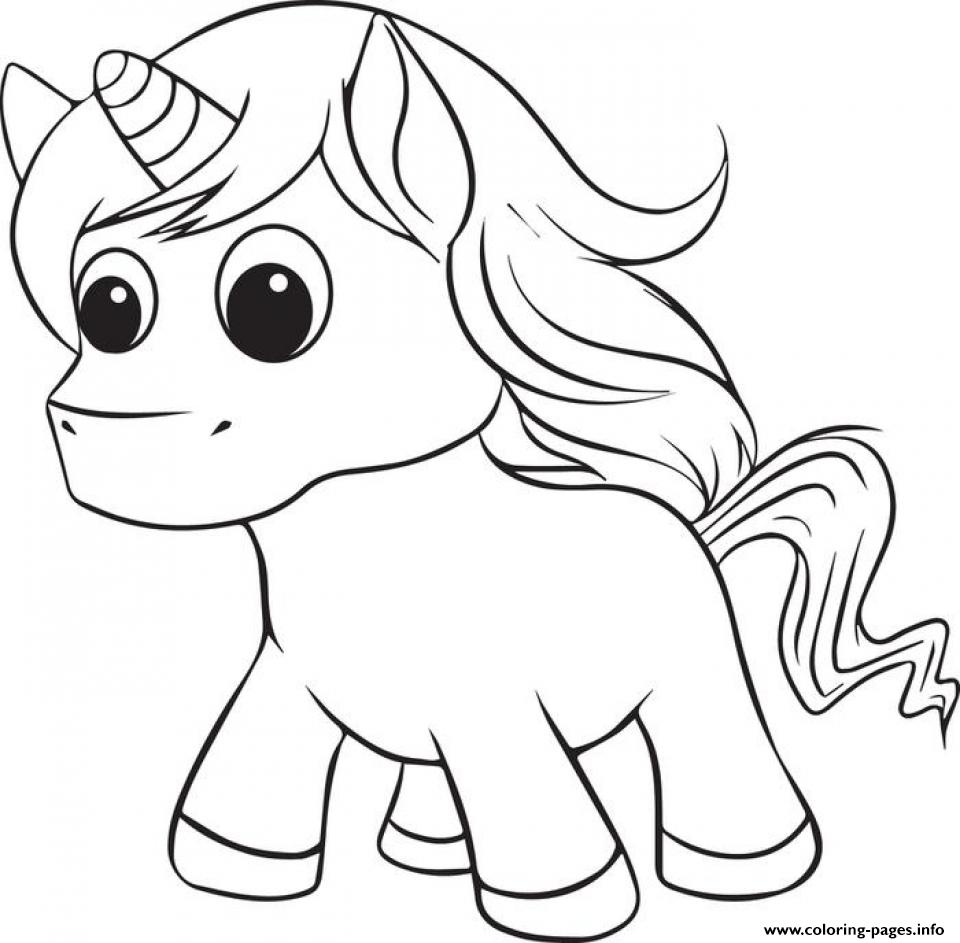 Printable Unicorn Cute Coloring