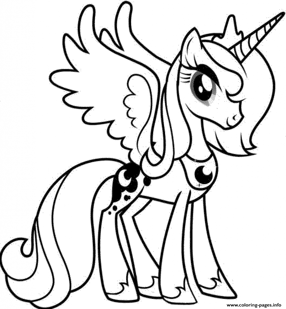My Little Pony Unicorn Pinkie Pie Coloring Pages Printable