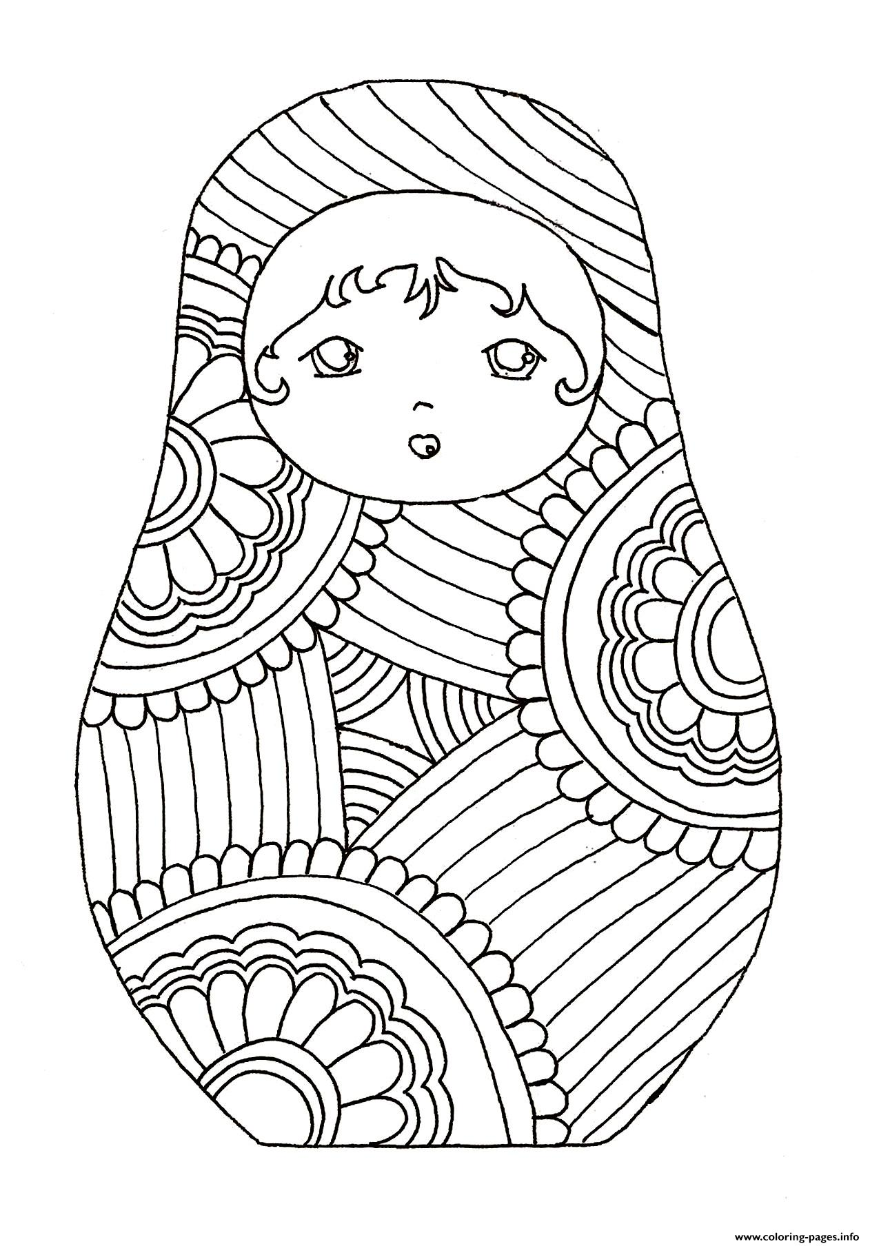 Disney Russian Dolls Coloring Pages