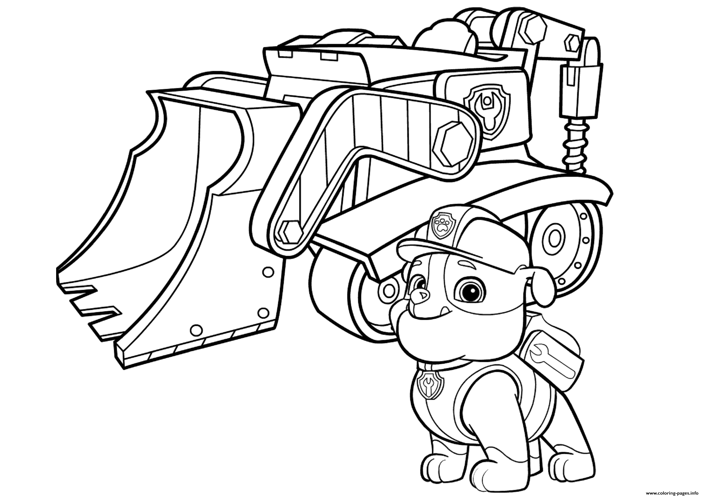 Paw Patrol Rubbles Bulldozer Paw Patrol coloring pages