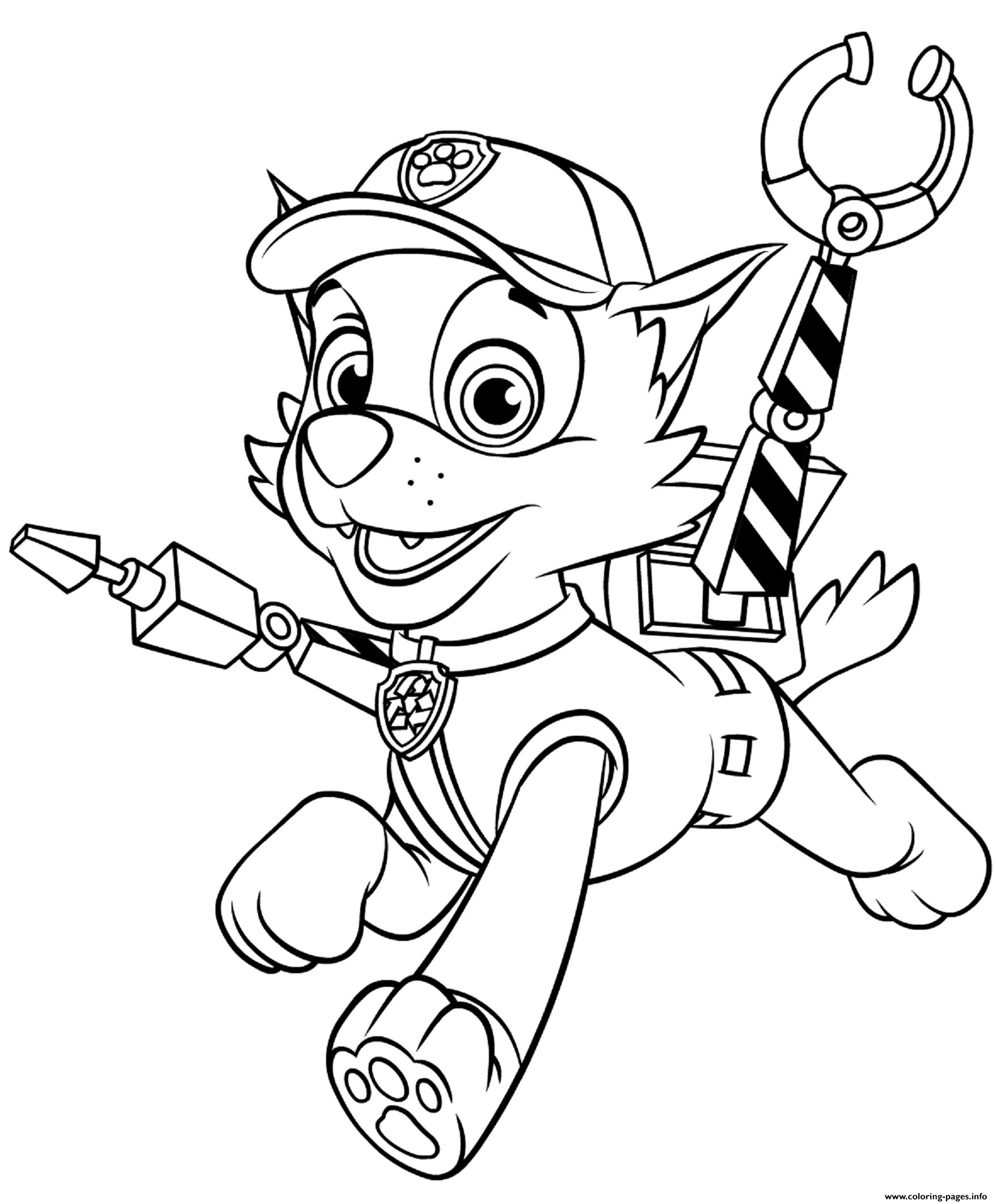 Rocky With Claws Paw Patrol coloring pages