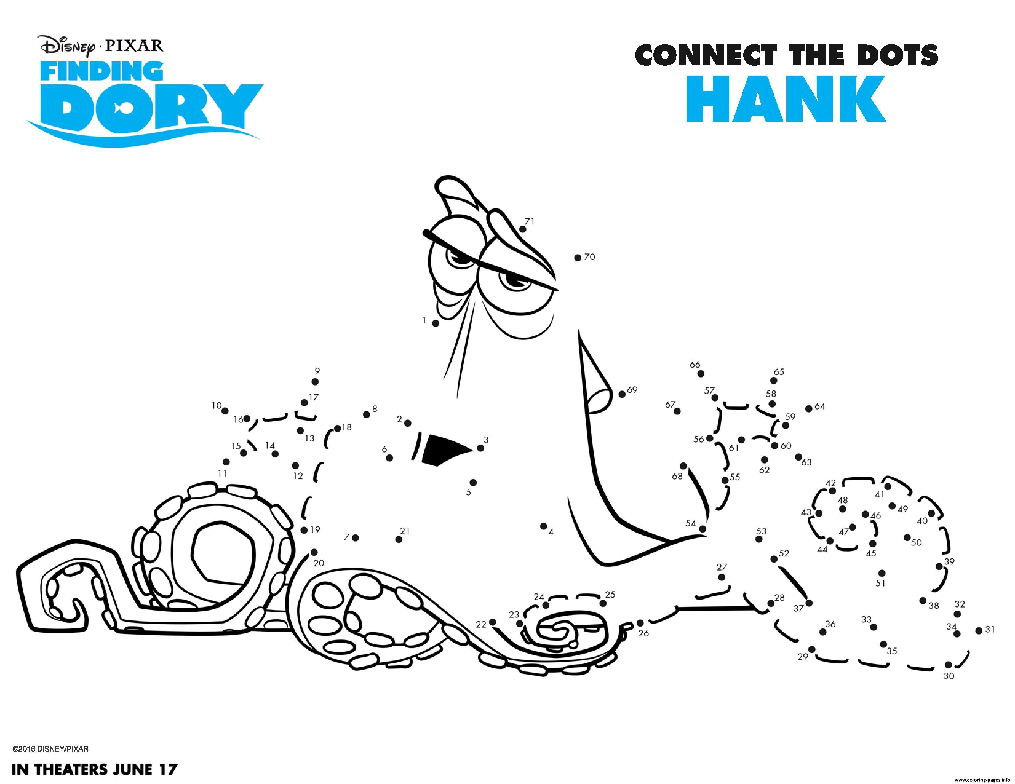 Finding dory activity sheet coloring pages printable