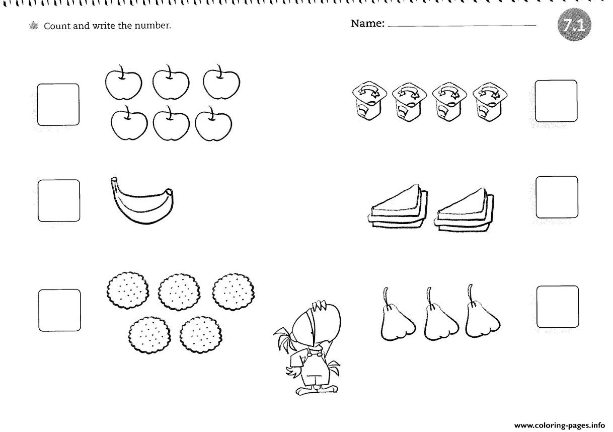 counting coloring pages Worksheets For 4 Year Olds Counting Coloring Pages Printable counting coloring pages