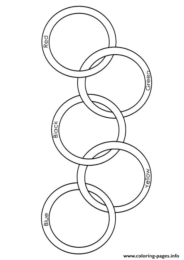 - Olympic Rings A4 Coloring Pages Printable