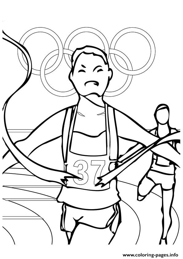 Track And Field Olympic Games coloring pages