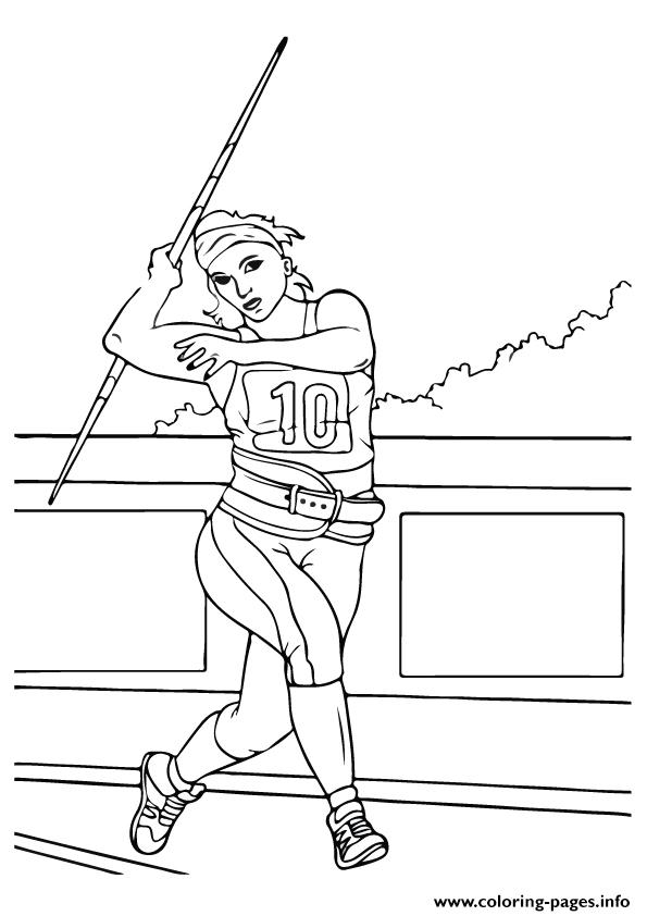 Javelin Throw Olympic Games coloring pages