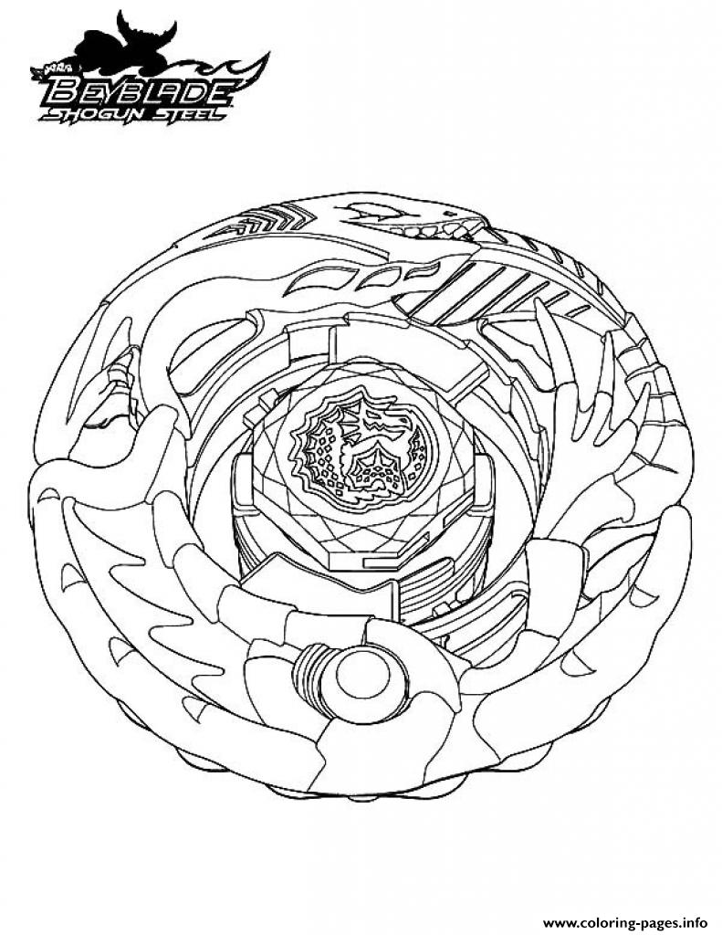 Beyblade 13 coloring pages