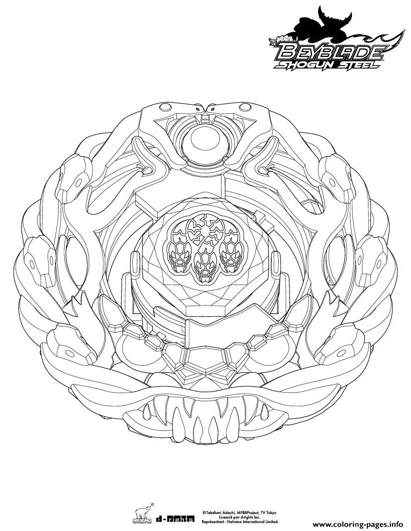 Beyblade 6 coloring pages