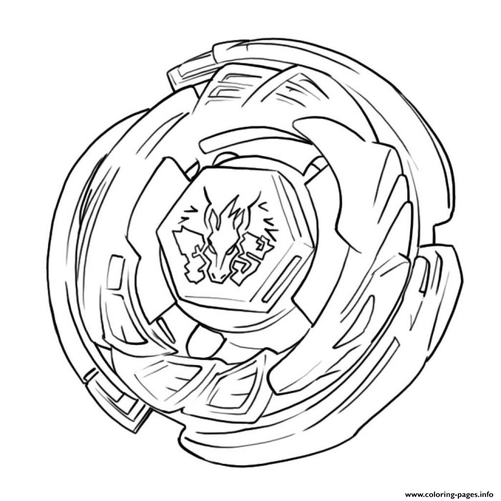 Beyblade 5 coloring pages