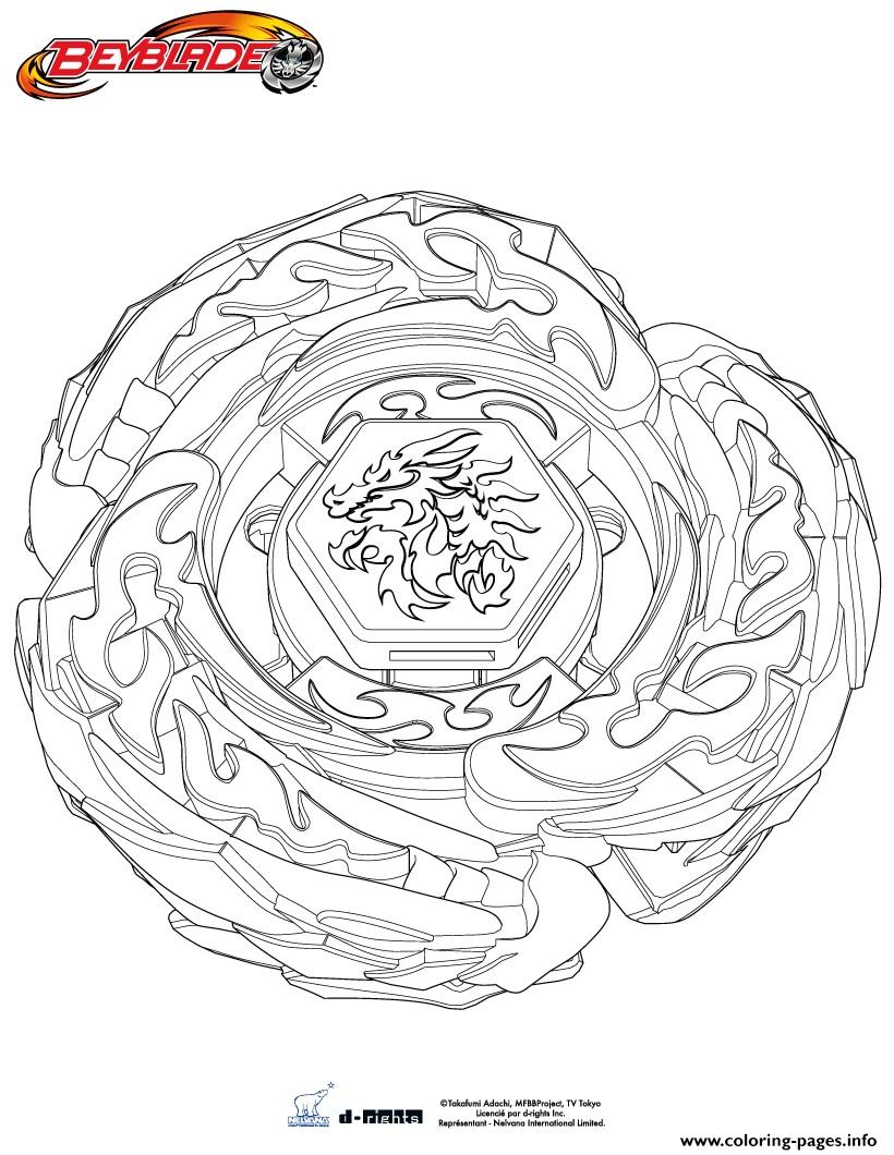 Beyblade Drago Destructor coloring pages