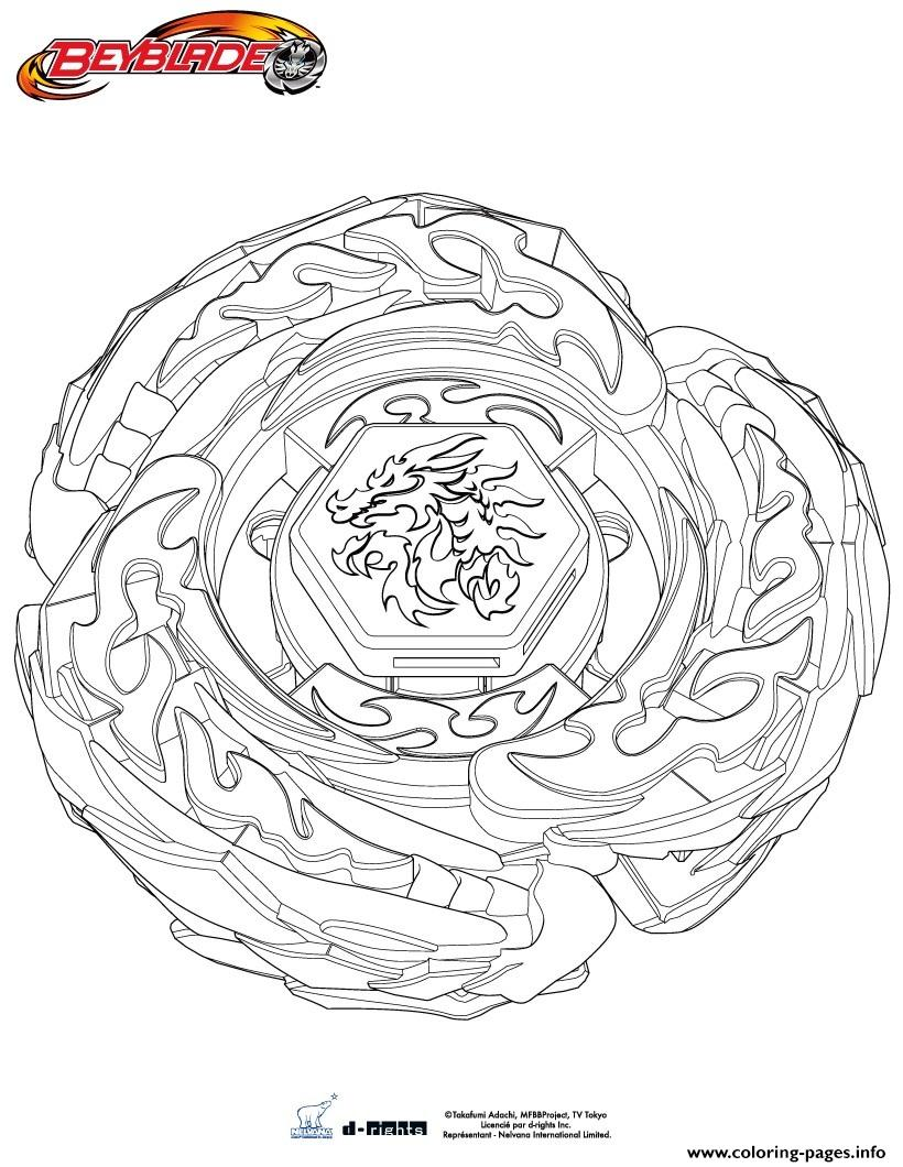 Beyblade Metal Fusion Drago coloring pages