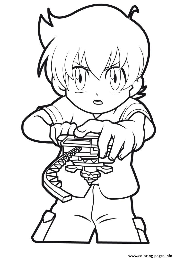Beyblade Player coloring pages