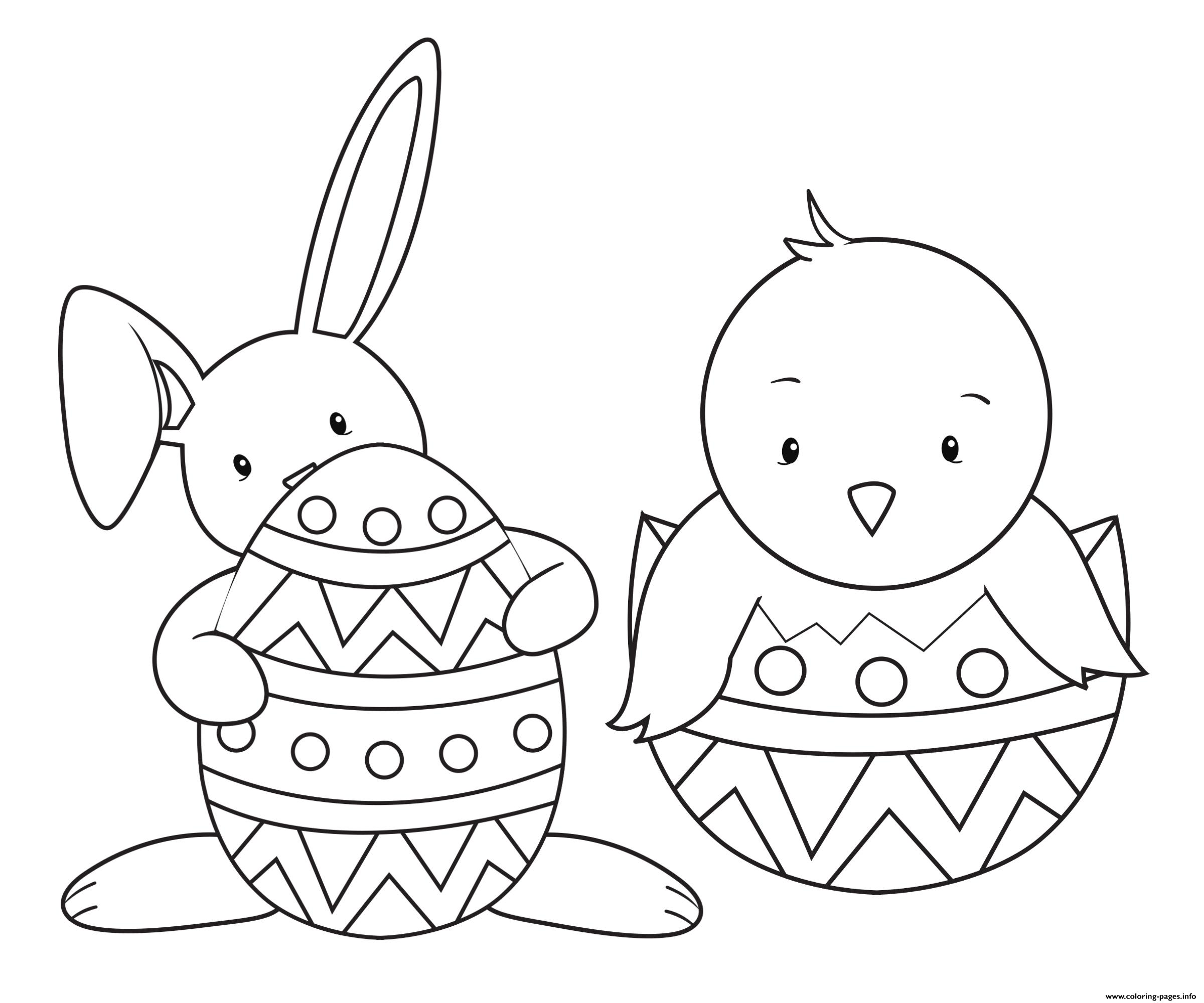 Easter animals for kids friends coloring pages printable