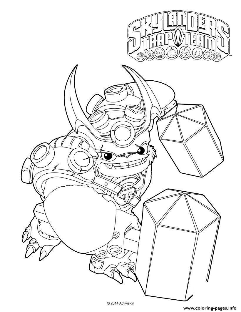 Skylanders Trap Team Wallop Coloring Pages Printable