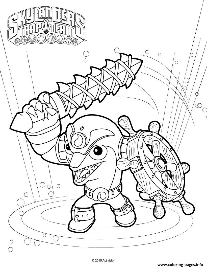 image about Skylander Coloring Pages Printable titled Skylanders Change Spoil Coloring Web pages Printable