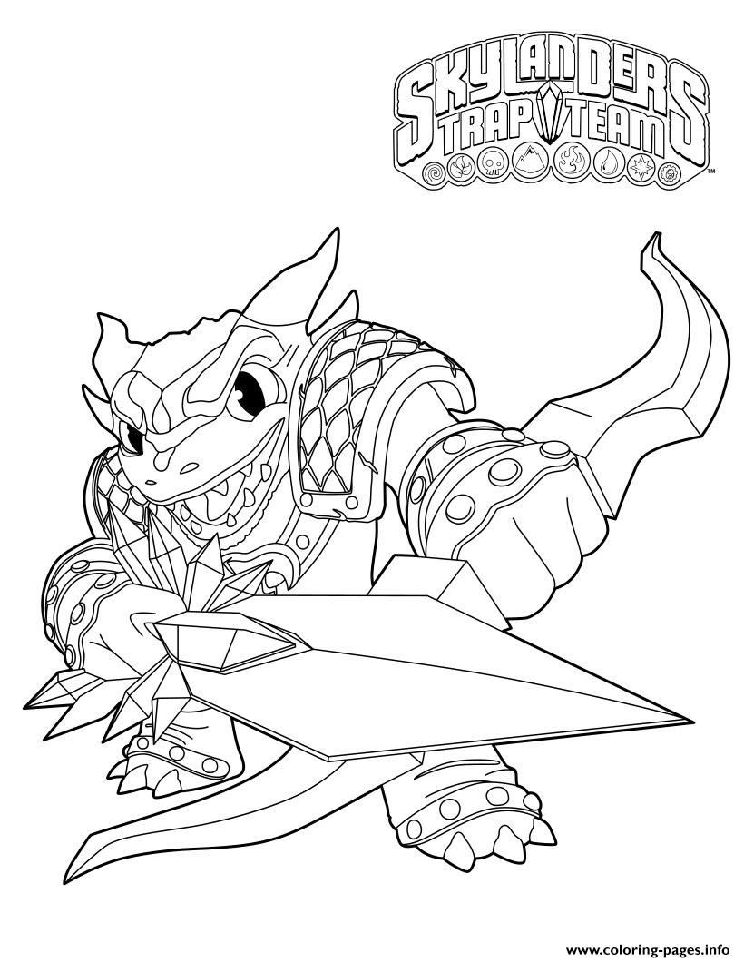 Skylanders Trap Team Wildfire Snap Shot coloring pages