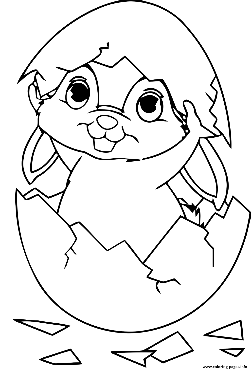 Baby Easter Bunny Egg Coloring Pages Printable