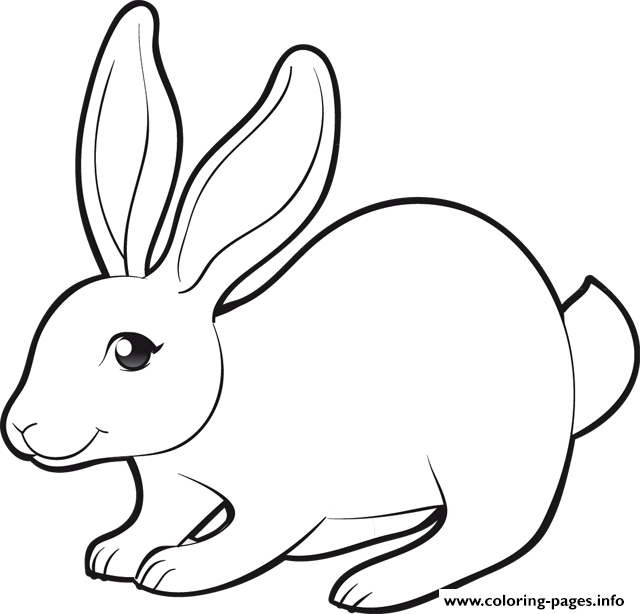 Easter Cute Bunny Coloring Pages Printable