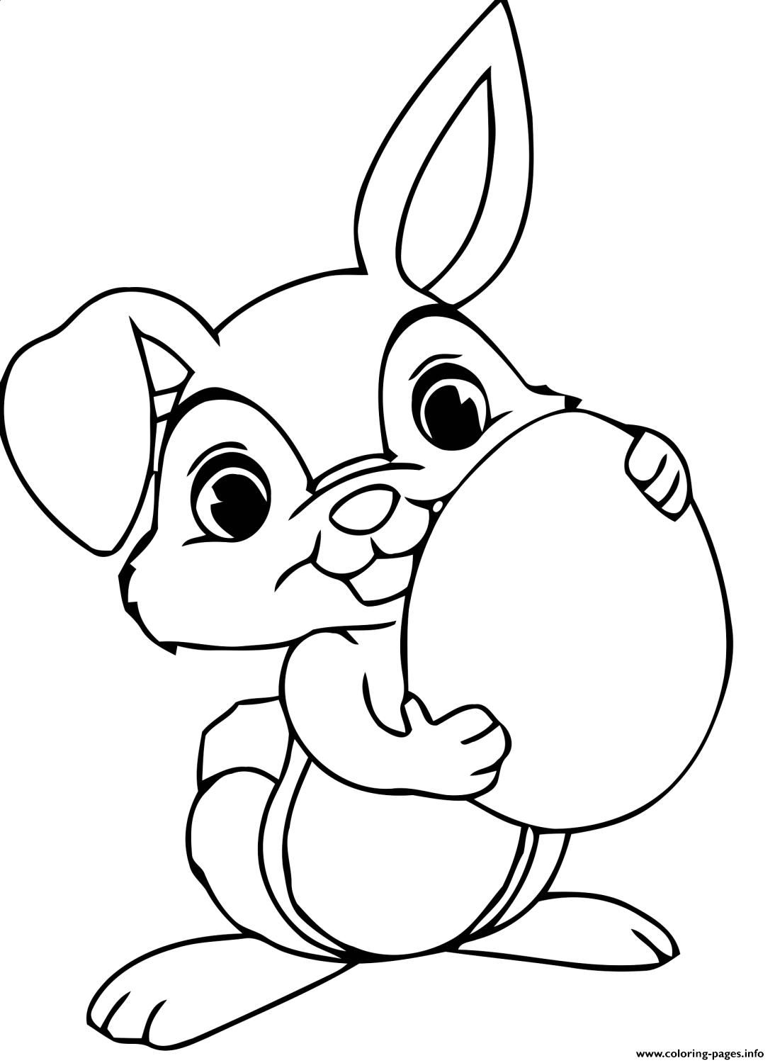 Easter Bunny Maternelle coloring pages