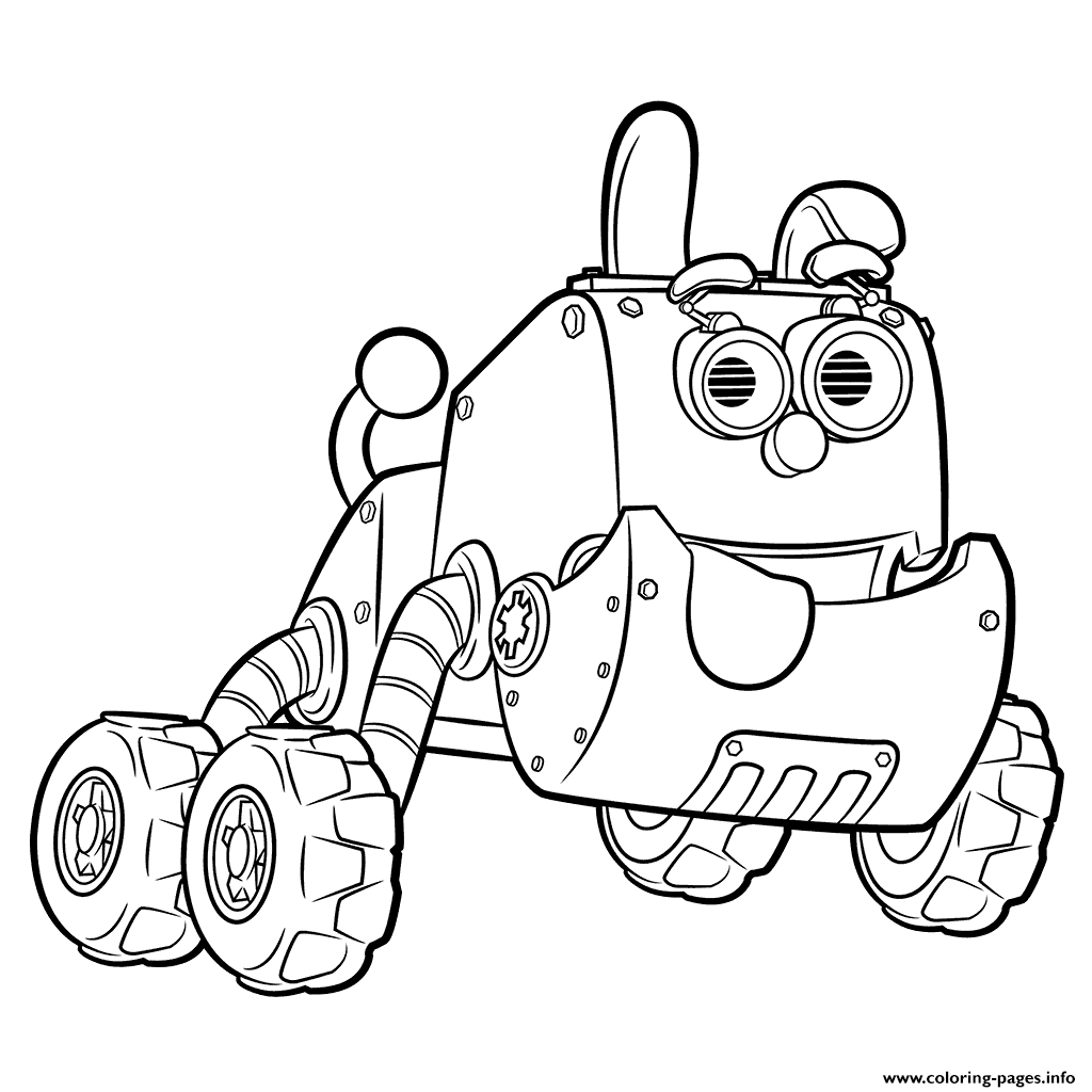 Robot Dog In Rusty Rivets Robotic Puppy Coloring Pages Printable