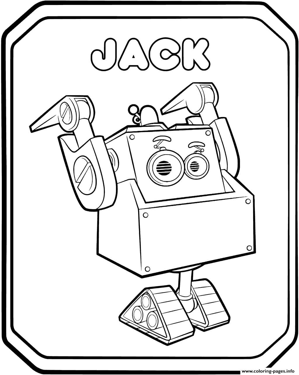 Rusty Rivets Robot Jack Coloring Pages Printable