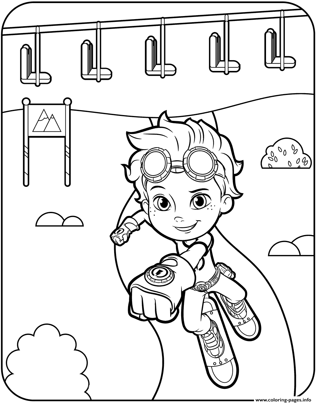 rusty rivets coloring pages Free Printable Rusty Rivets Coloring Pages Printable rusty rivets coloring pages