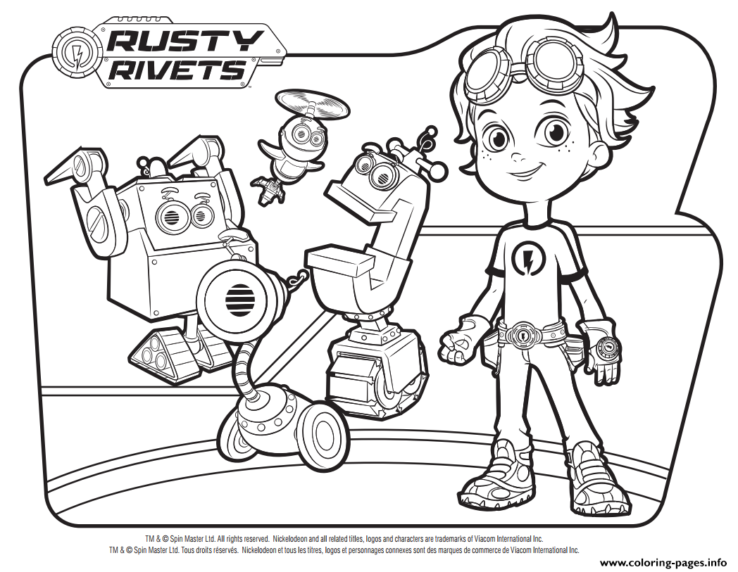 Rusty Rivets Robots Coloring Pages Printable