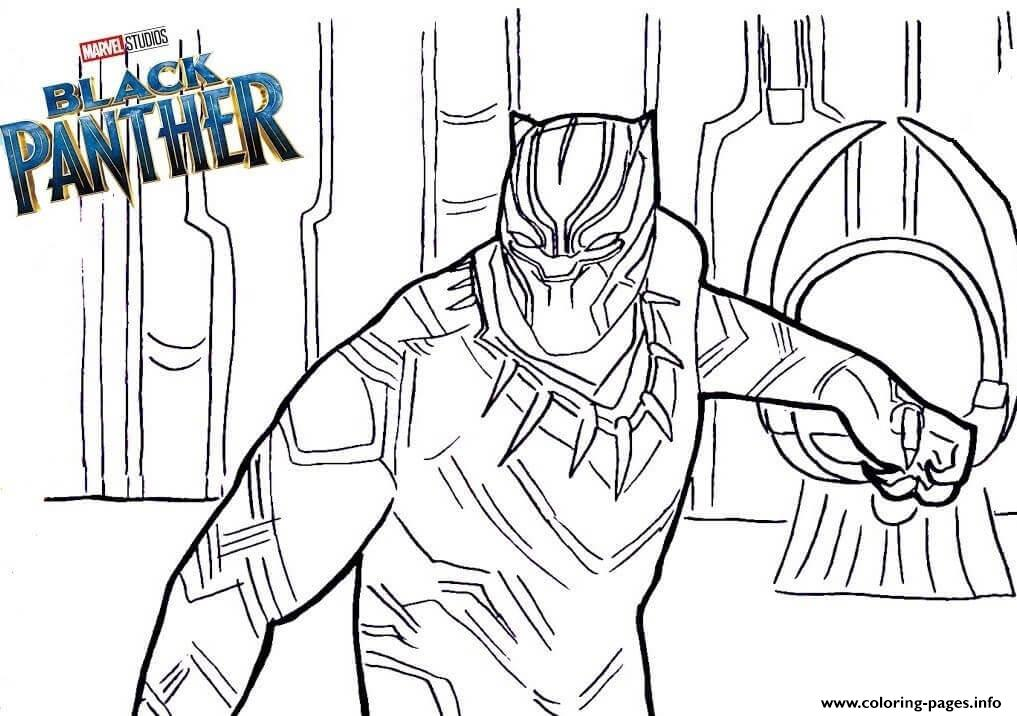 Black Panther Movie Coloring Pages Free