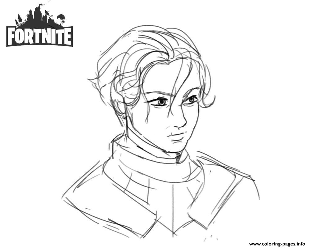 Fortnite Brienne Of Tarth By Shantftw On Tumblr Coloring Pages Printable