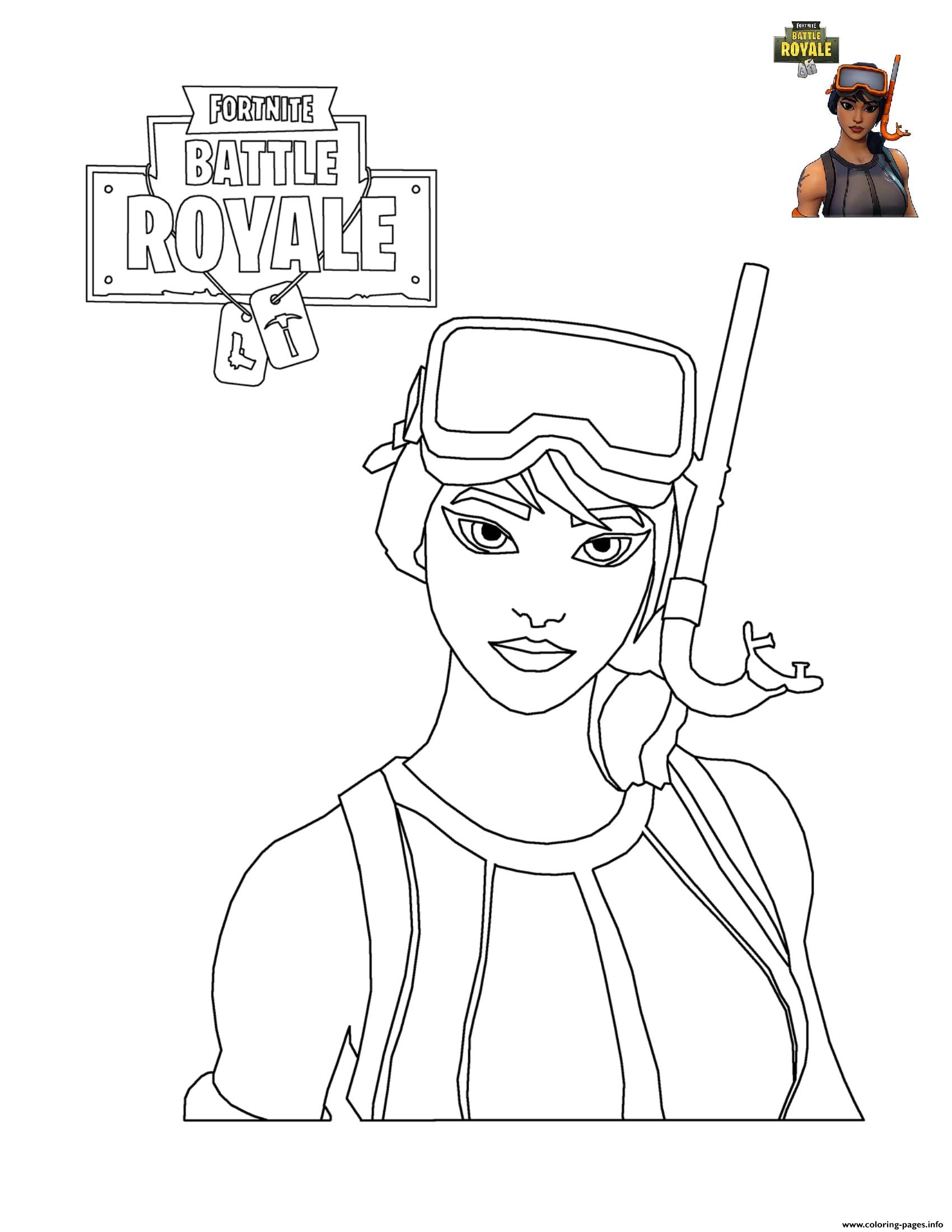 Fortnite Character 7 Coloring Pages Printable