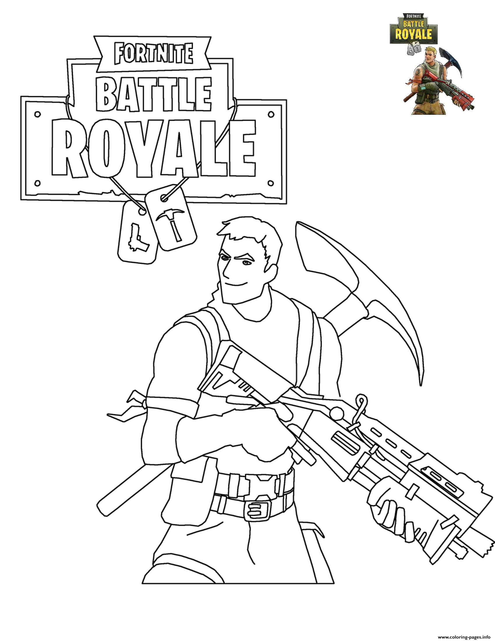 picture regarding Fortnite Printable named Fortnite Overcome Royale Coloring Webpages Printable