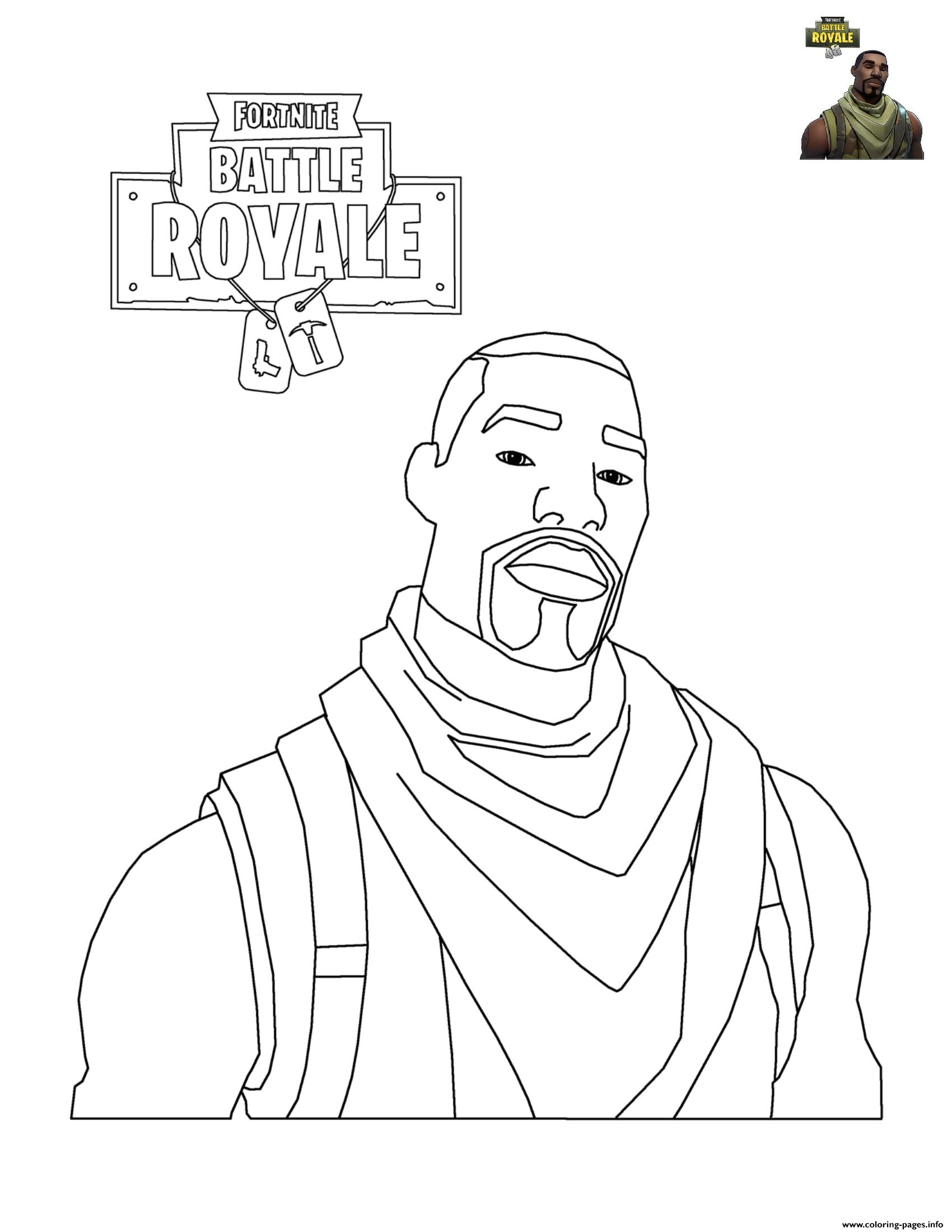 Fortnite Character 2 Coloring Pages Printable