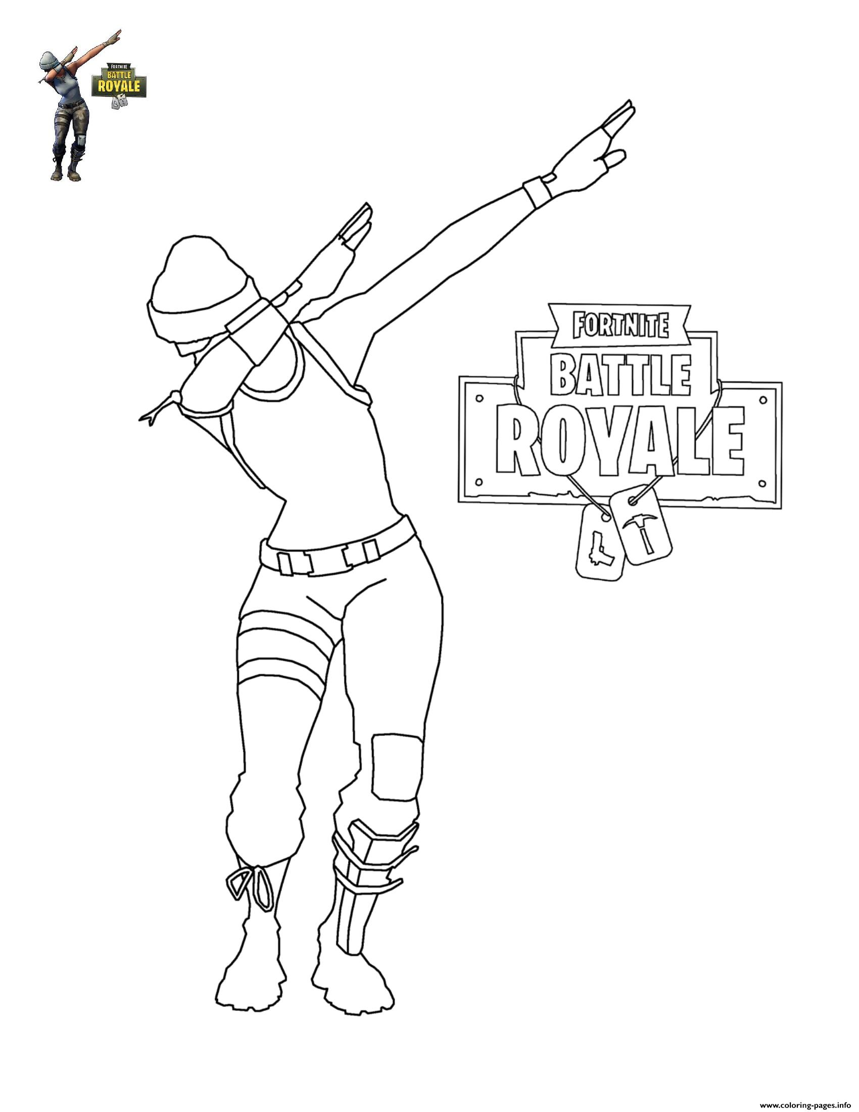 photo relating to Printable Fortnite named Fortnite Dab Coloring Webpages Printable